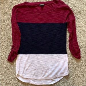Express color block sweater